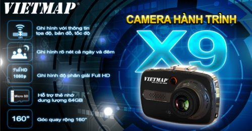 tính năng camera hành trình vietmap x9
