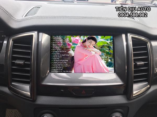 hệ thống giải trí trên dvd ford everest