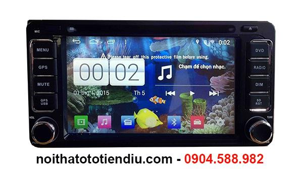 đầu dvd Android cho xe Mitshubishi triton