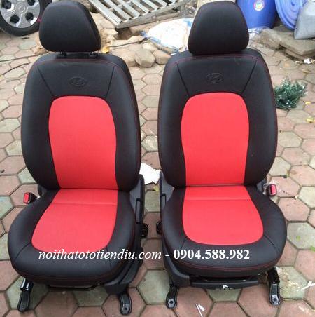 bọc nội thất ô tô I10 đỏ đen