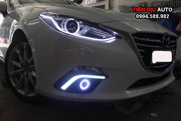 Độ đèn Mazda 3 dải led xinhan