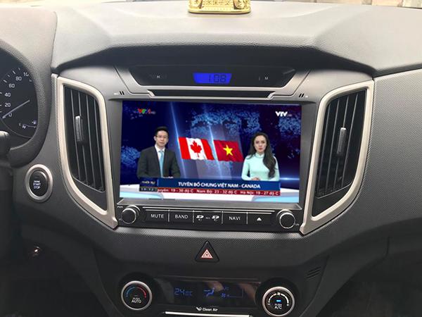 lắp màn hình dvd android trên ô tô