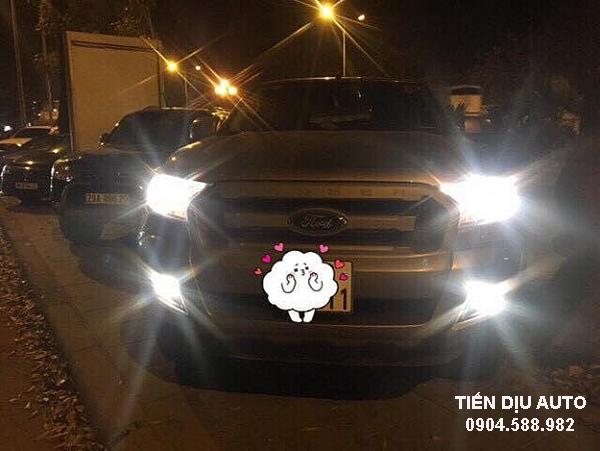 độ đèn gầm ford ranger