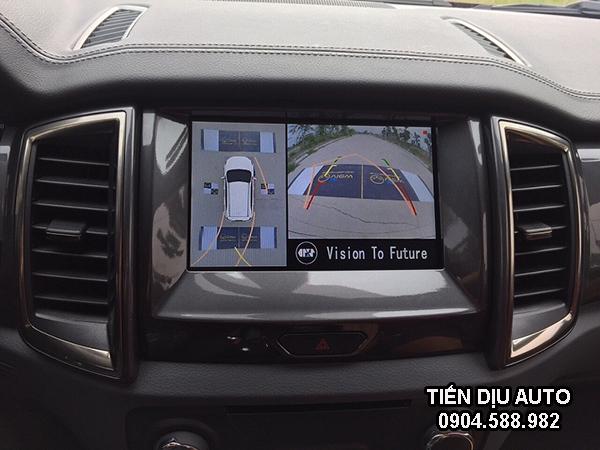 camera 360 trên màn hình ô tô ford ranger