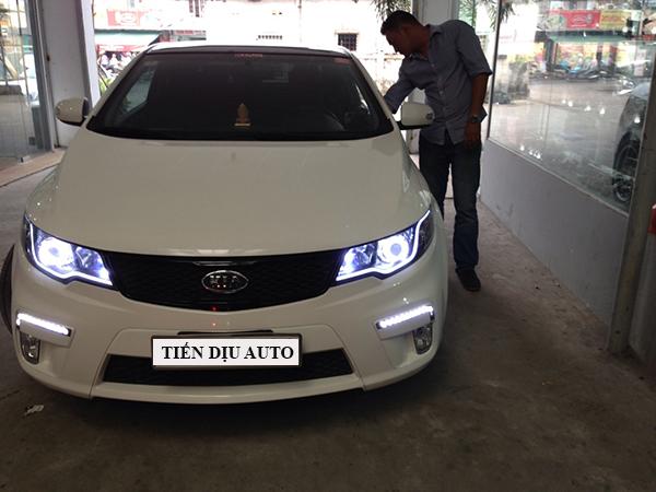 độ đèn bi xenon cho xe Kia Forte