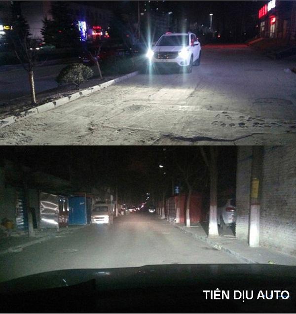 thay bóng đèn pha led ô tô