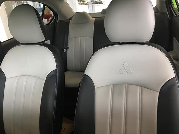 bọc ghế da công nghiệp cho xe attrage
