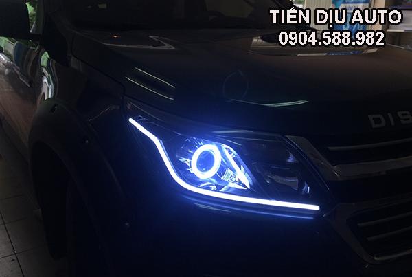 độ đèn bi xenon xe Colorado