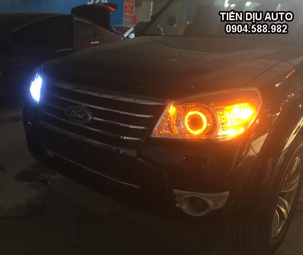 độ đèn led bi xenon xe ford everest