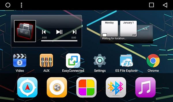 giao diện màn hình DVD Android ô tô