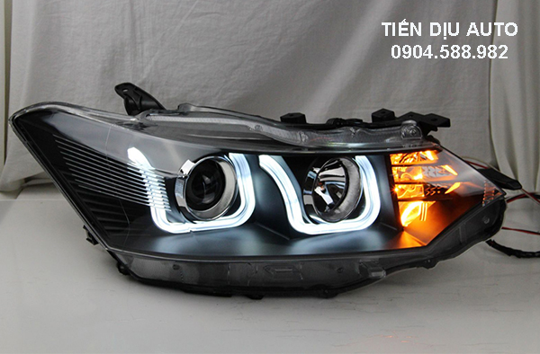 Độ đèn pha nguyên bộ xe Vios