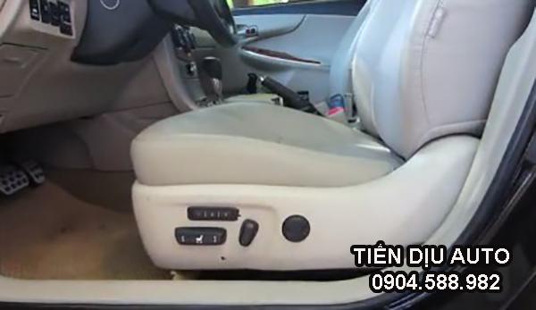 Độ ghế chỉnh điện và nhớ vị trí ghế lái xe altis