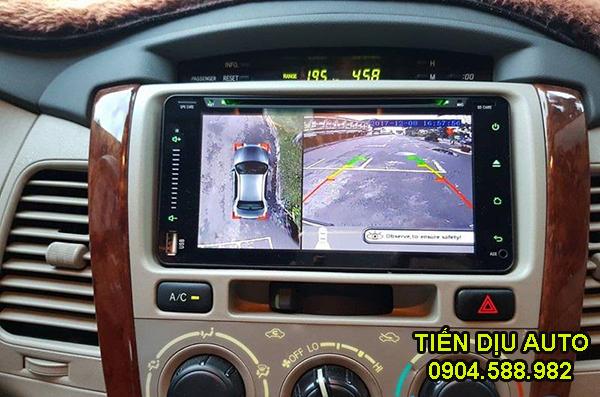 lắp camera 360 độ cho xe Innova