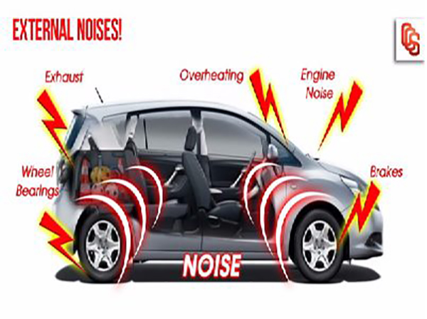 nguyên nhân gây ra tiếng ồn ô tô